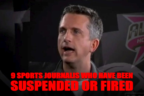 sports journalists who have been suspended