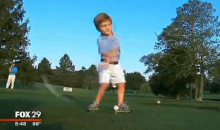 This Three-Year-Old with Only One Arm Could Probably Beat You at Golf (Video + GIF)