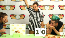 Epic Hot Dog Eating Contest: Kobayashi vs Tiny Hamster (Video)