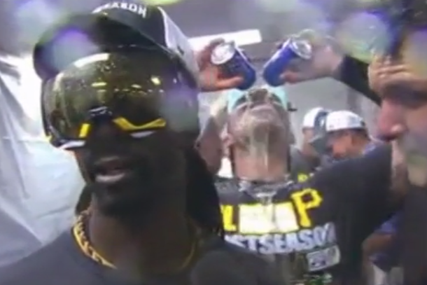 Pirates Catcher Tony Sanchez Videobombs Teammates with Stone Cold Steve Austin Victory Celebration