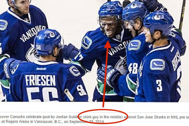 vancouver sun apologizes for racist photo caption jordan subban dark guy in the middle 2