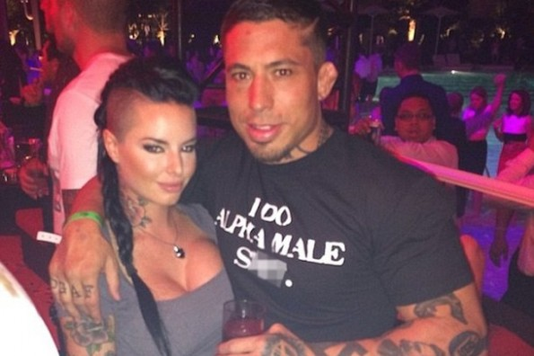 war machine and girlfriend christy mack - athletes who beat their wives domestic violence