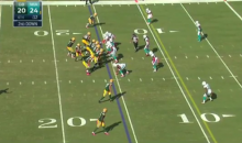 Aaron Rodgers Uses the Dan Marino Fake Spike Against the Dolphins (Video)