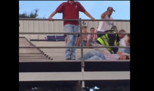 Alabama Fan Throws Soda onto Ole Miss Fans, Gets Hammered by Security (Video)