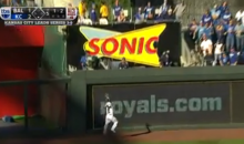 Alex Gordon Slams Into Outfield Wall to Make a Catch for the Royals (Video)