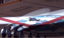 Canucks Anthem Singer Trips Up on Skates During National Anthem (Video)