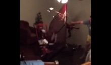 Dallas Cowboys Fan Destroys His House after Loss to Redskins (Video)