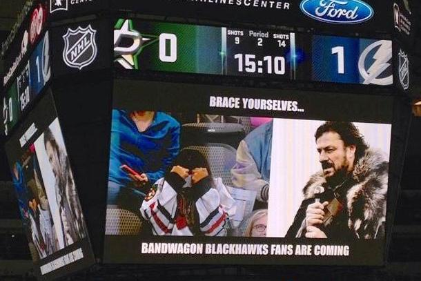 Dallas Stars troll fans with vintage meme night copy