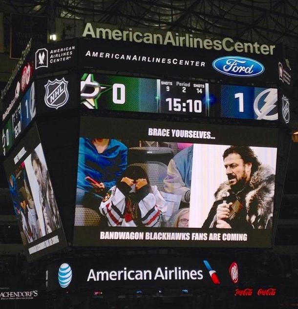 Dallas Stars troll fans with vintage meme night