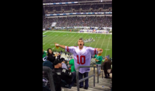 Eagles Fans Lob Garbage at a Giants Fan, To No One's Surprise (Video)