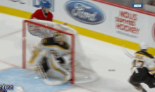 Fan Uses Laser Pointer To Distract Tuukka Rask, Fails, Gets Ejected (GIF)