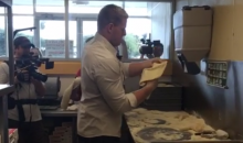 J.J. Watt Delivered Some Pizza for Papa John's…for Charity (Video)