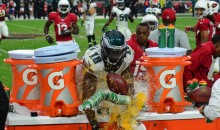 Jeremy Maclin Treats Gatorade Tables Like a Slip n' Slide after Punt (Video) **UPDATE w/ Pics***