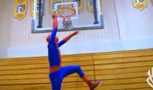 Jordan Kilganon, Amazing Dunker, Dresses as Spider-Man and Throws Down (Video)