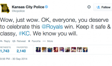 KC Police Ask Citizens to Hold Off on Crimes Until Royals Game Ends