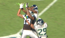 Kelvin Benjamin Gets Props from Kevin Durant for an Amazing Catch (Video)