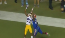 LSU Receiver Travin Dural Makes One-Handed TD Grab to Put Tigers Up Over Gators (Video)