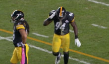 Lawrence Timmons Puking A LOT Before AND After a Play on Monday (Video)