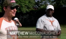 Matthew McConaughey Speaks to the Texas Longhorns for Some Reason (Video)