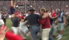 Ole Miss Fan Gets Stiff-Armed Approaching Nick Saban After Game (Video)
