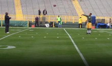 Packers TE Richard Rodgers Plays Catch with His Dad, an Opposing Coach, Before Game (Pic)