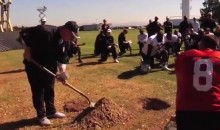 New Raiders Coach Tony Sparano Buries a Football in a Hole to Motivate Team (Video)