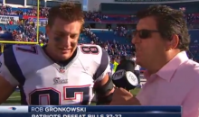 Rob Gronkowski Gave a Pretty Funny Post-Game Interview After Pats Win (Video)