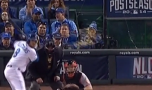 Royals Fan Showers Another Fan in Popcorn at JUST the Right Time (Video)