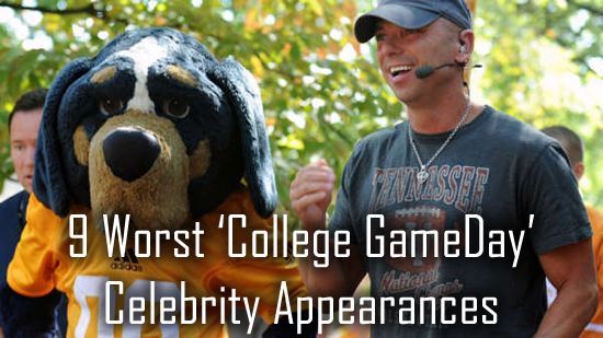 The 9 Worst College GameDay Celebrity Appearances