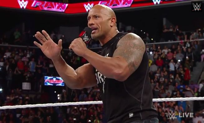 The Rock Returns Raw