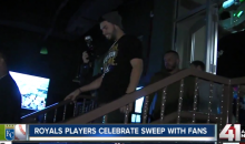 The Royals Partied with Their Fans Last Night in a Kansas City Bar (Video)