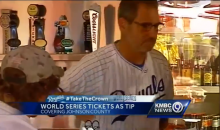 Wade Davis' Wife Tips Server with World Series Game One Ticket (Pic)