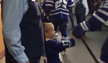 Adorable Maple Leafs Kid Gives Players Props Despite Opening Night Loss to Canadiens (Video)