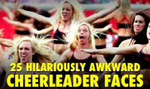 25 Hilariously Awkward Cheerleader Faces