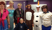 Boston Bruins Dress Up as Frozen Characters for Visit to Children's Hospital (Pic)