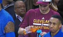 Here's a Cavaliers Employee Pouring Gatorade Into a Powerade Bottle (GIF)