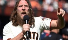 Daniel Bryan Pep Rally Prior to Game 3 of NLDS Got Giants Fans All Pumped Up (Video)