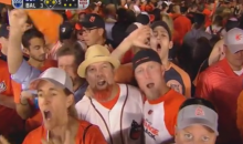 Here's Some Douchebag Orioles Fan Pantomiming Oral Sex on a Giant Imaginary Dong (Video)