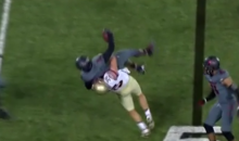 Florida State Tight End Body Slams Louisville Linebacker Who Intercepted Jameis Winston Pass (Video)