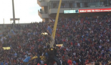 Ole Miss Goalposts Go on Tour of Oxford After Upset Over Alabama (Pics)