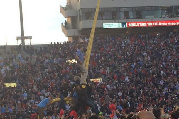 ole miss goalposts