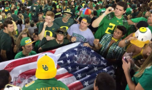 Oregon Students Play Beer Pong in the Stands During Game, Because College! (Pic)