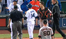 Benches Clear in Game 2 of World Series After Royals Rough Up Hunter Strickland (Videos)