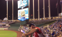 Royals Peanut Guy with Amazing Arm Will Restore Your Faith in Humanity (Video)