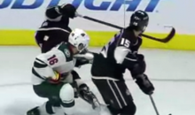 Minnesota Wild's Jason Zucker Takes Skate to the Throat from L.A.'s Kyle Clifford (GIF)