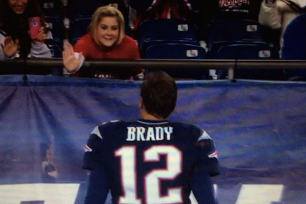 tom brady high five