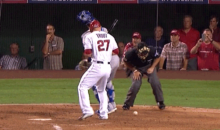 Let's All Cringe at this Umpire Nutshot from the Royals-Angels Game (GIF)