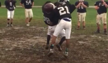 Youth Football Player RKOs Teammate During One-on-One Drill (Video)