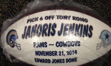 Janoris Jenkins Commemorative Romo Interception Ball is from the Future (Pic)
