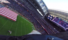 Bald Eagle Soars Around Texans Pregame with a GoPro on Its Head (Video)